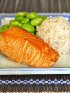 Maple orange soy salmon