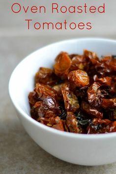 Oven Roasted Tomatoes - #healthyrecipe #healthy #lowfat #lowcalorie #diet #cookinglight #MyBSisBoss