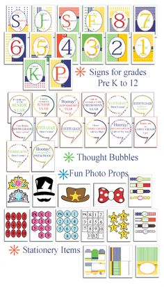 First Day of School Photo Props, Cards & Tags from Tip Junkie!  {FREEBIE}