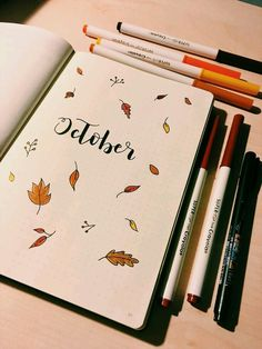 Welcome October - Bullet journal - Yorgo Bullet Journal School, Bullet Journal Headers, Bullet Journal Cover Page, Bullet Journal Notebook, Bullet Journal Ideas Pages, Bullet Journal Spread, Bullet Journal Layout, Journal Covers, Bujo Planner
