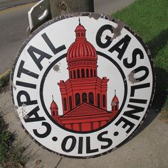 Vintage signs for gas and oil collectors. Several brands of gas and oil companies available. Polly Gas, Shell, Mobiloil and