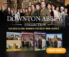 "It's Christmas in July on ShopPBS.org!  It's just $45 for DVDs of ""Downton Abbey: Seasons 1 & 2""!"
