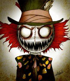 Afbeeldingsresultaat voor alice in wonderland creepy Creepy Drawings, Dark Art Drawings, Creepy Art, Cool Drawings, Alice In Wonderland Artwork, Dark Alice In Wonderland, Arte Horror, Horror Art, Arte Tim Burton