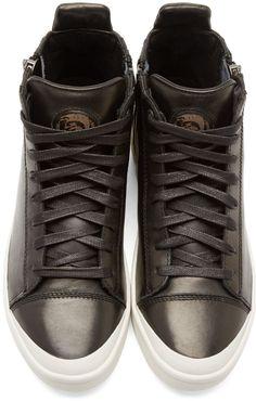 Diesel Black Zipped S-Nentish Sneakers