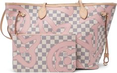 Buy and sell authentic handbags including the Louis Vuitton Neverfull Damier Azur Tahitienne MM Rose Ballerine Lining in Canvas with Brass and thousands of other used handbags. Louis Vuitton Shoes, Louis Vuitton Handbags, Louis Vuitton Neverfull Damier, Casual Sneakers, Bunt, Fashion Bags, Diaper Bag, Pouch, Wallet