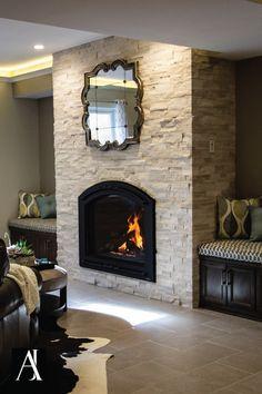 Dublin Custom Cast Stone Fireplace Mantel mantle