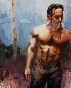 "Saatchi Art Artist Calvin Lai; Painting, ""A Moment with Jonathon"" #art"