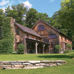 From horse barn to rustic home!  http://www.thisoldhouse.com/toh/article/0,,1008291,00.html  #horse #barn #home #rustic #log #cabin #repurpose #remodel