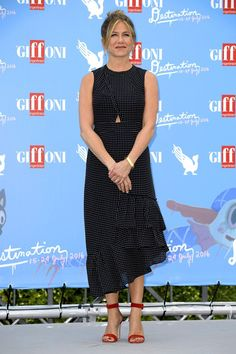 Giffoni International Film Festival, Italy - July 23 2016 Jennifer Aniston wore Tibi.