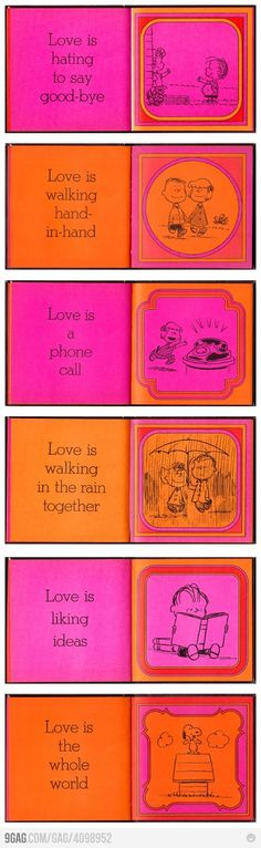Love is... simple.  Imagine these as thank you cards for a charlie brown wedding. cute.