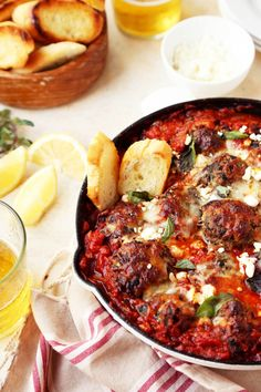 Spicy Mediterranean Meatballs - The Candid Appetite