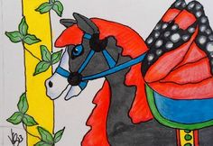 ACEO CAROUSEL BUTTERFLY HORSE 2 ON EBAY
