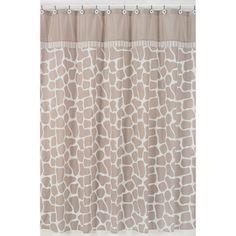 Giraffe Neutral Shower Curtain