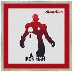 Iron man silhouette superhero Comics, TV series, films, cartoons monochrome Counted Cross Stitch Pattern/Instant Download Epattern PDF File par HallStitch sur Etsy https://www.etsy.com/fr/listing/256248716/iron-man-silhouette-superhero-comics-tv