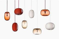 We love these beautiful 'Pebble' pendant lights by Swedish brand Örsjö, available at Skandium. Cluster them together for a statement lighting scheme with delicate elegance.