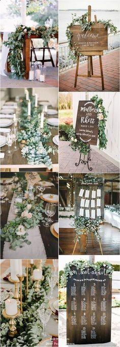 A Modern Wedding With Rustic Details Wedding Reception