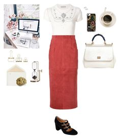 """""""Office Hours"""" by jessicaoftheoaks ❤ liked on Polyvore featuring Ermanno Scervino, H Beauty&Youth, Corso Como, Dolce&Gabbana, Lalique, HAY, Connor and Casetify"""
