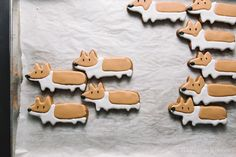 Gingerbread Corgi Cookies [via i am a food blog] -- Where does one find this cookie cutter?!