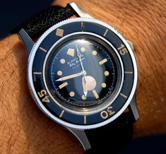 Blancpain Fifty Fathoms Milspec 1. I love 100% glossy dials like this one…