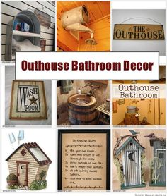 Country Outhouse Bathroom Decorating Ideas
