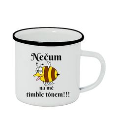 Plecháček - smaltový lem s potiskem Plecháček Nečum Humor, Mugs, Tableware, Dinnerware, Humour, Tumblers, Tablewares, Funny Photos, Mug