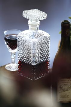 Chic Rustique Wedding Hire and Styling Products ~ www.chicrustique.com.au ~ Crystal Wine Decanter ~ Vintage Wine Decanter ~ Wedding Crystal Glassware ~