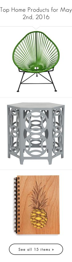 """""""Top Home Products for May 2nd, 2016"""" by polyvore ❤ liked on Polyvore featuring home, furniture, chairs, black chair, black furniture, woven chair, innit, weave chair, tables and accent tables"""