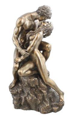 Artistic-Nude-THE-LOVERS-Statue-Erotic-Art-Figurine-Sculpture-Bronze-Finish