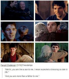 The last one is heart breaking because it is like they both know Merlin isn't coming back