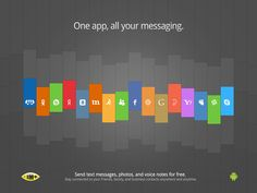 IM+ Android / Ads by Pixel Junglist, via Behance
