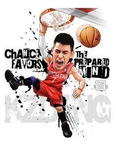 Jeremy Lin by Kevin Deng, via Behance