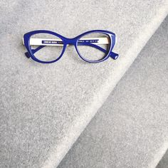The new blue prunelle by Caroline Abram #eyewear #frames #glasses #paris