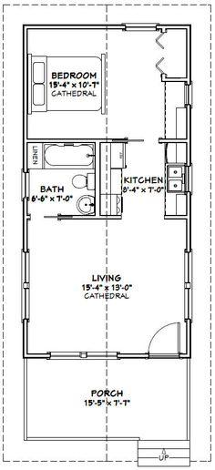 10x30 tiny house -- #10x30h1a -- 300 sq ft - excellent floor plans