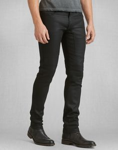 Eastham Slim Fit Trouser - Black Denim. BELSTAFF
