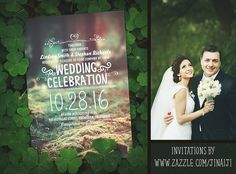 Enchanted Forest Wedding Invitations / Wedding in the Woods / Rustic Woodland Invitations