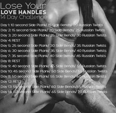 DIY at home 14 day lose your love handle challenge#Health&Fitness#Trusper#Tip