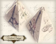 INSTANT DOWNLOAD Paris pyramid box vintage by VectoriaDesigns, $2.95