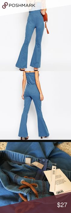 NWT ASOS Denim Jumpsuit size 4 This jumpsuit is so freaking cute! Unfortunately it is too big for me and I never returned it :/ purchased online for $60. Perfect condition since it has never been worn! Please refer to Asos sizing charts ASOS Pants Jumpsuits & Rompers