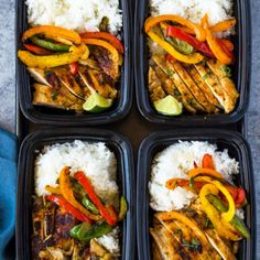 Chili Lime Chicken and Rice Meal Prep Bowls |