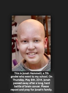 please repin and pray for Jonah's family. (Doesn't fit well with the board, but there's no where else to put it)