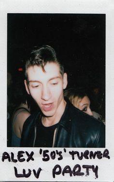Alex Turner of Arctic Monkeys polaroid