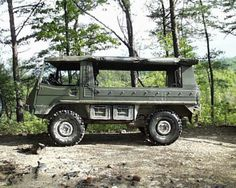 Pinzgauer. Cruising in the country with friends & cold ones!