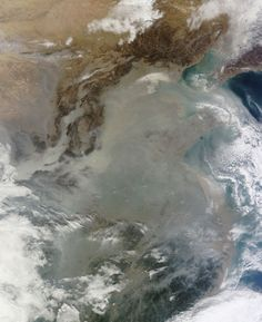 China, covered in smog