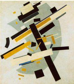 マレーヴィチ 「シュプレマティズム (スプレムス58番 黄と黒)」1916 Oil on canvas  79.5 x 70.5 cm  ロシア美術館  サンクト・ペテルブルク