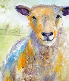 """""""Sheep Farm (detail 2)"""" par Marcia Baldwin"""