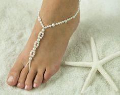 Playa de arena descalzo sandalias, joyería de playa novia y damas de honor, sandalias de boda. * GRATIS transporte * en todos los colores!