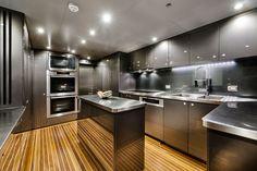 Mega Yachts Interior Kitchen | Zenith superyacht Galley - 40m catamaran superyacht Zenith (IC0832 ...