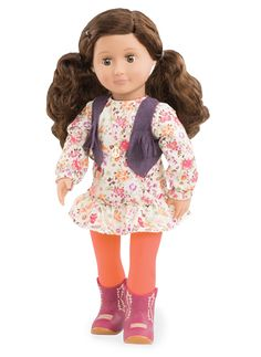 """Our Generation American Girl Doll 18/"""" Dolls Clothes Shoes Blue Sneaker Runners"""