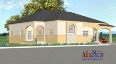 114E - Africplans Electrical Installation, Septic Tank, Roof Plan, Western Union, House Plans, Mansions, How To Plan, House Styles, Home Decor