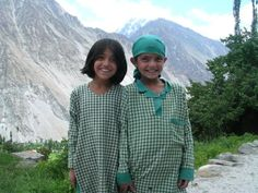 Children in the Hunza Valley, north Pakistan